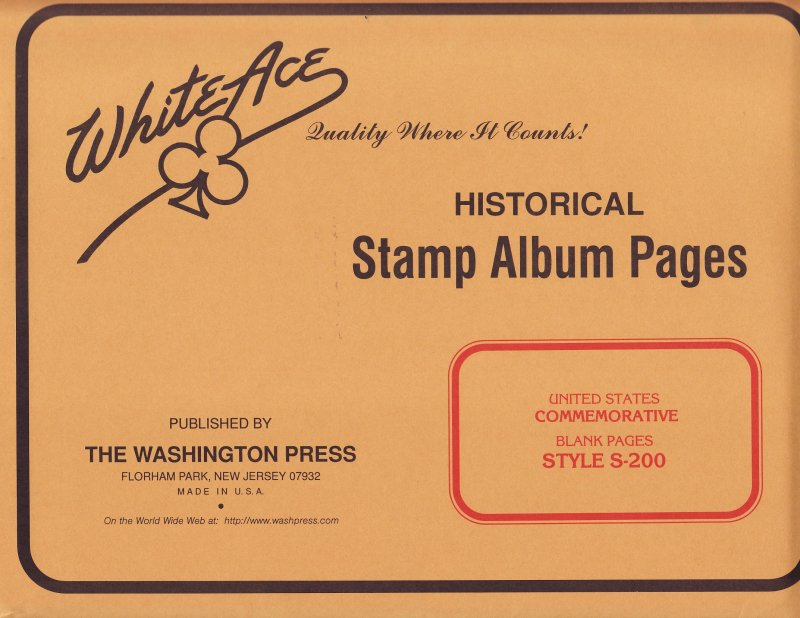 White Ace Canada Postage Stamp Blank Album Pages