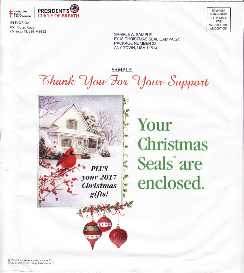 2017 Sample ALA Annual Christmas Seal Campaign Letter