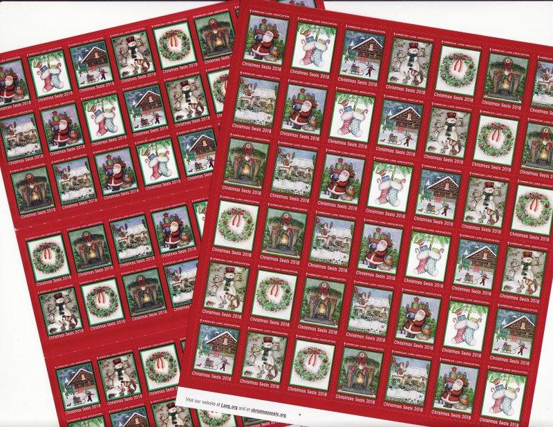 2018-1x2, 2018 U.S. National Christmas Seals Sheet, FY19-FU1S-4-01, reverse of sheet