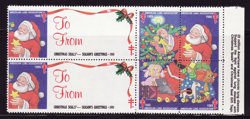 1989-T6, 1989 U.S. Test Design Christmas Seals, As Required