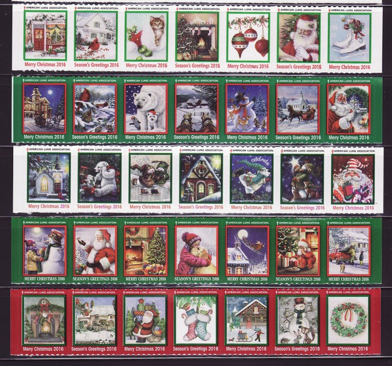 2016 U.S. Test Design Christmas Seal Collection, As Required