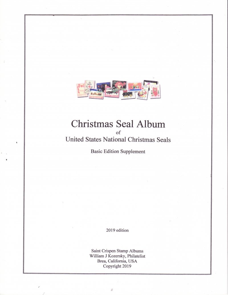 1907-2019 U.S. National Christmas Seal Stamp Album, Basic Edition Supplement