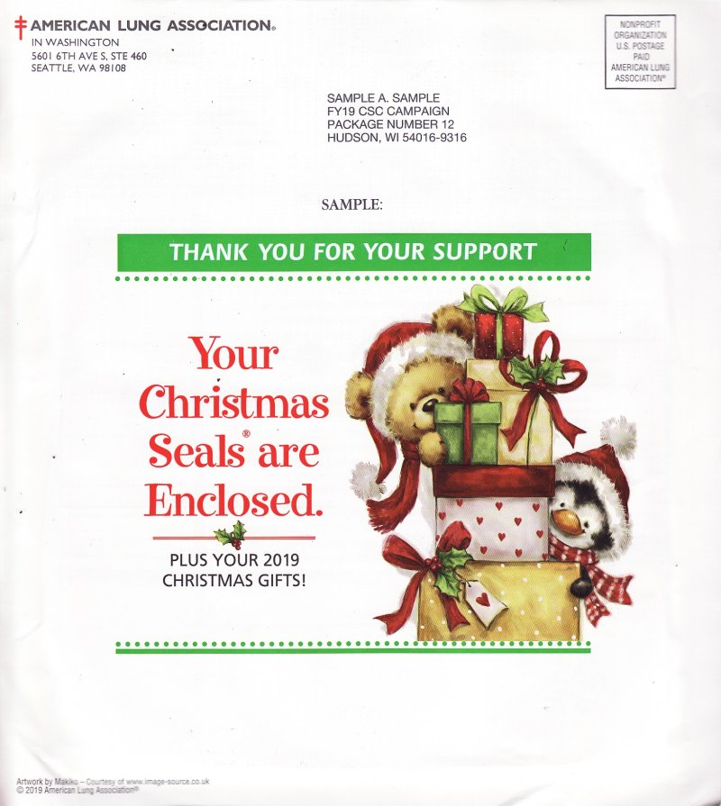 ACL-119, 2019 Sample Annual Christmas Seal Campaign Letter