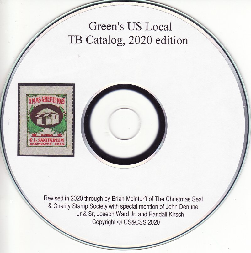 Green's Catalog, Part 2, U.S. Local TB Christmas Seals, 2020 ed., page 208