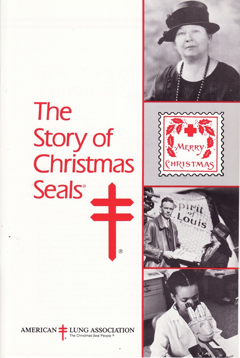The Story of Christmas Seals, published by the American Lung Association (ALA), reverse of booklet