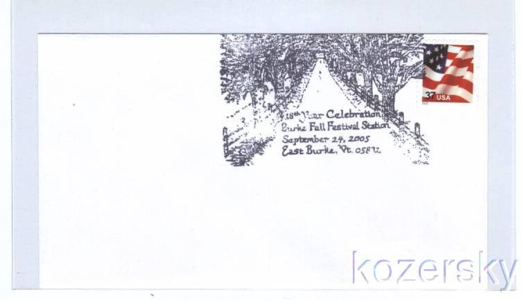 Tree Lined Road Topical Pictorial Postmark Cancel