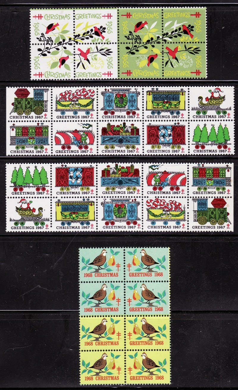 1920-68 U.S. National Christmas Seal Collection