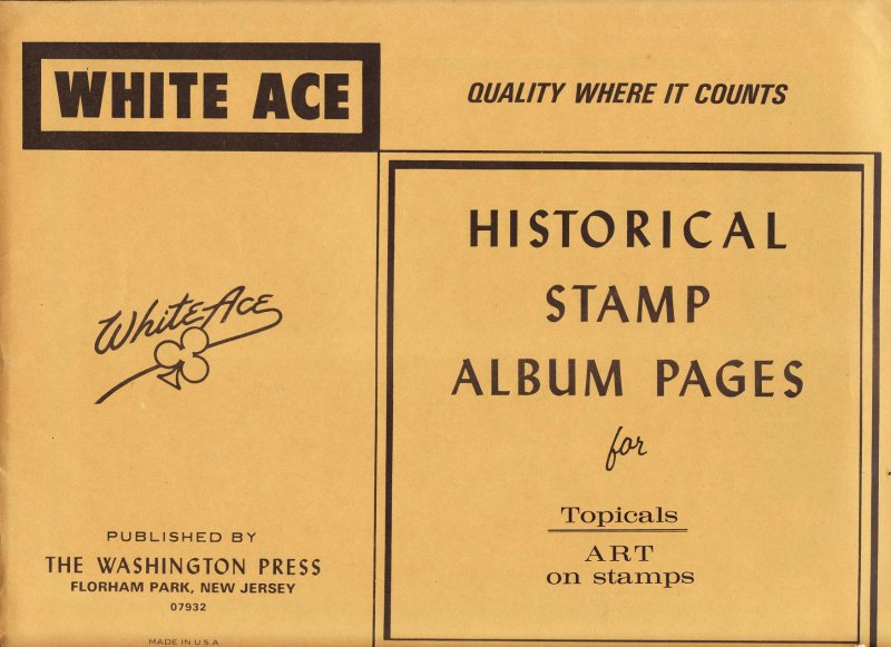 Art on Stamps, White Ace Album Pages