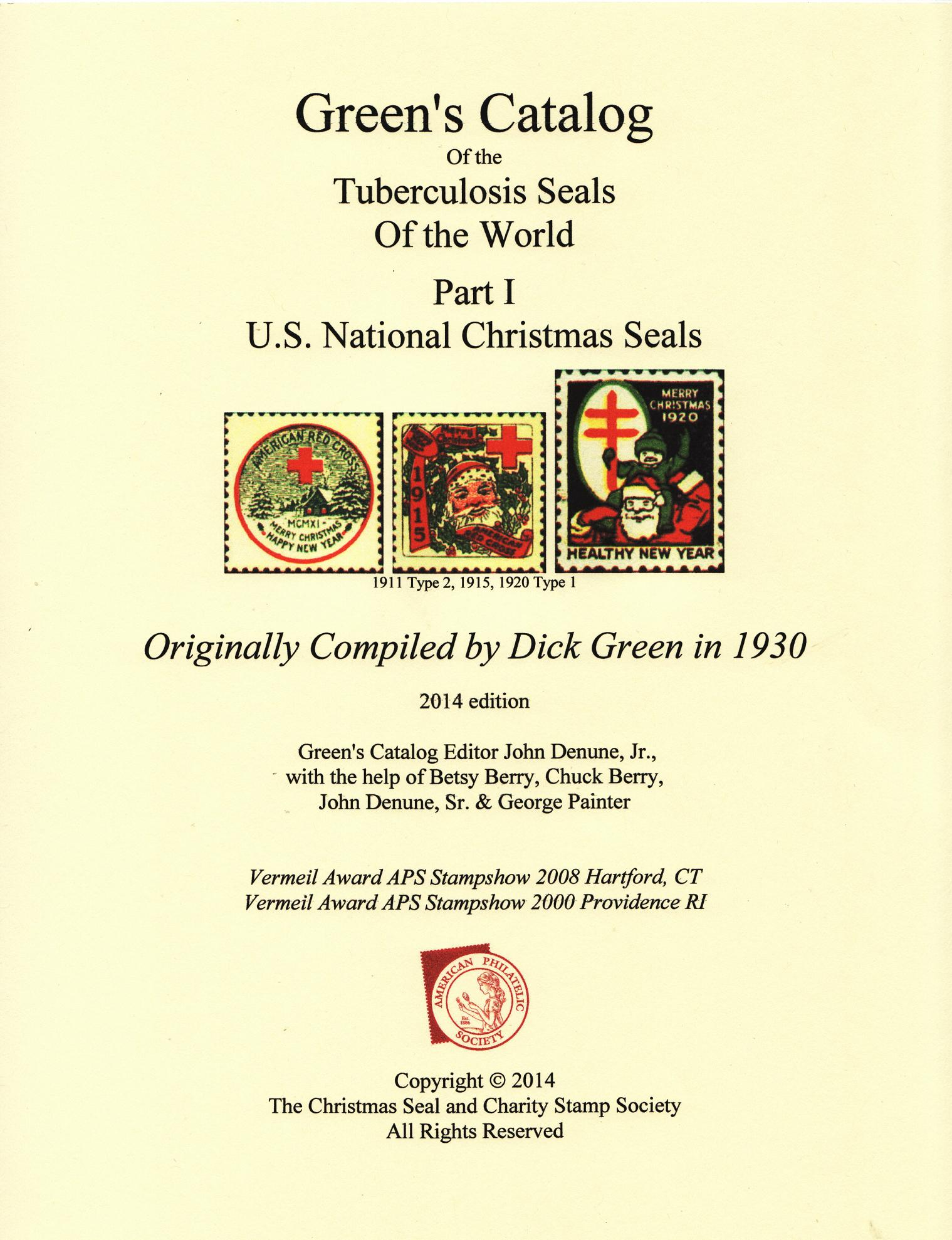 Green's Catalog,TB Seals of the World, Part 1, U.S. National Christmas Seals, 2014 ed., CD - page 200