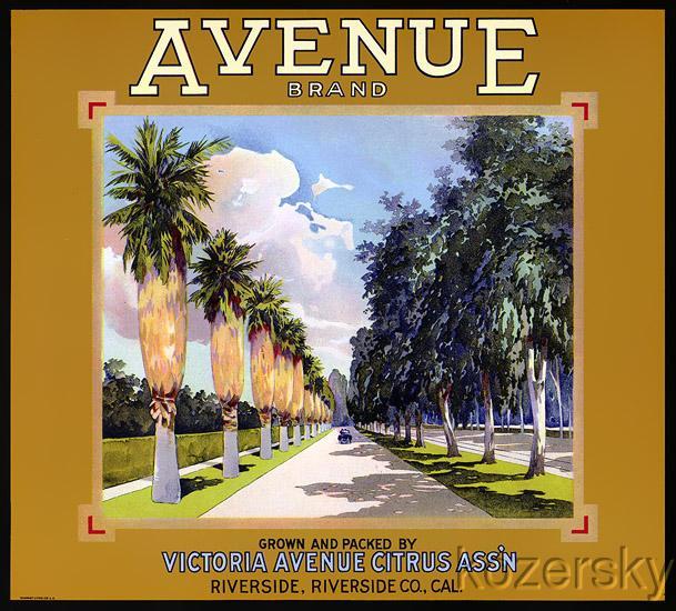 Avenue Brand Vintage Orange Crate Label