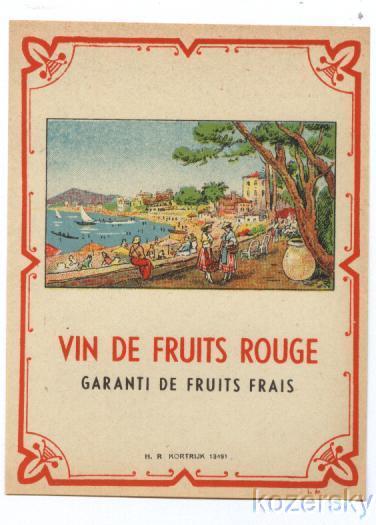 French Wine Label - Seaside Scene