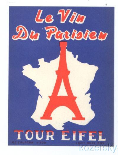 Eiffel Tower Wine Label