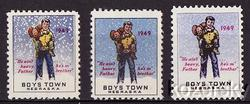 Boys Town 22.2A-C, 1949 Boys Town Christmas Charity Seal Collection