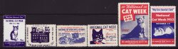Thumbnail of National Cat Week Charity Seals, 1946-52, MNH