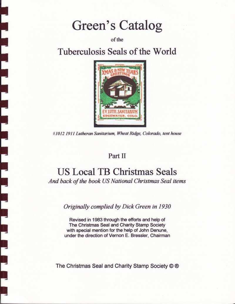 Green's Catalog, U.S. Local TB Christmas Seals, Part 2, 1983 ed., CD, page 123