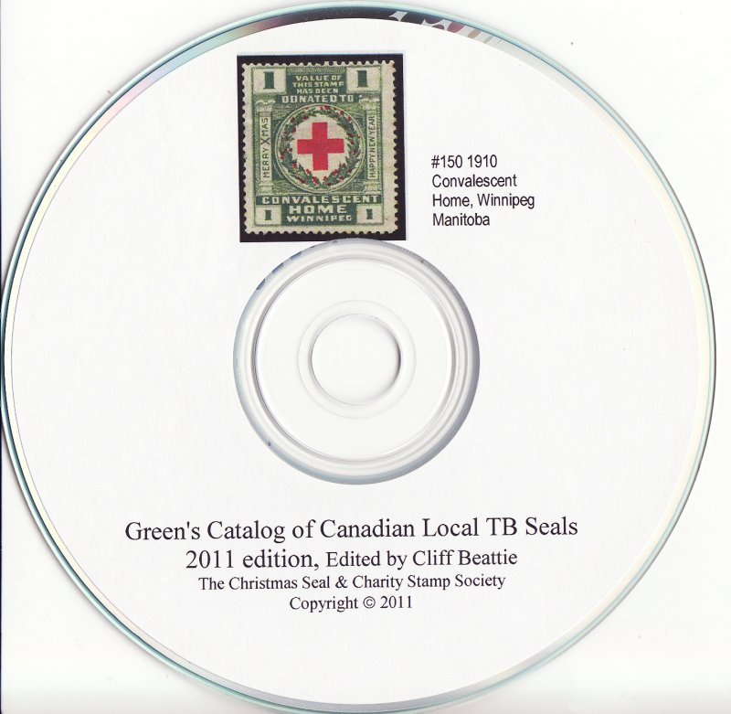 Green's Catalog, Canada Local TB Charity Seals, 2011 ed., CD, page 100