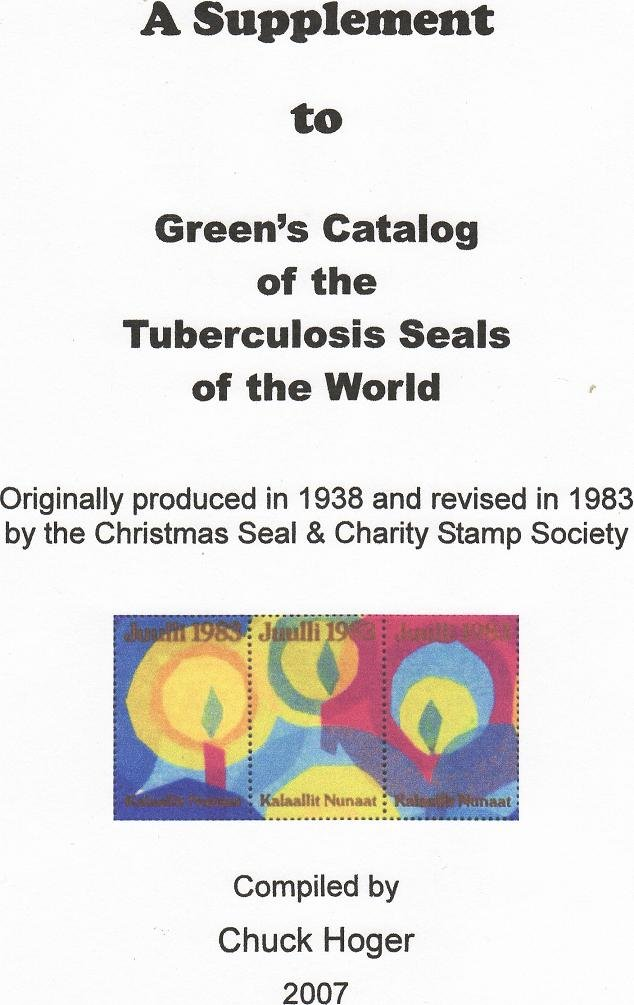 Green's Catalog, Foreign TB Charity Seals, Part 3, 1983-07 Supp., CD - Sweden