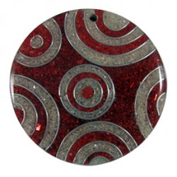 Thumbnail of Sawdust Red and White Circles Pendant
