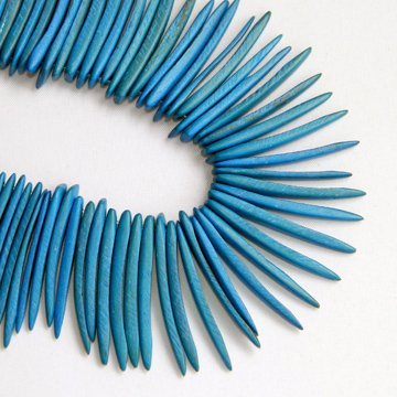 Coco Sticks, 1.5 inches, Aqua Blue