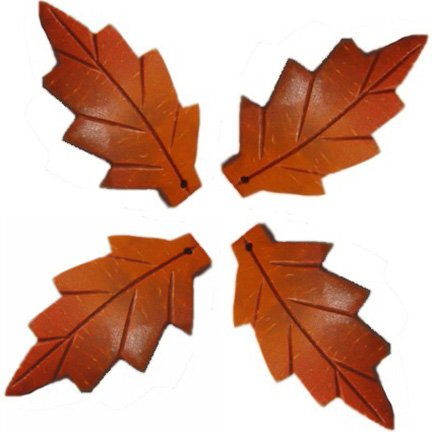 Carved Orange Coco Leaves