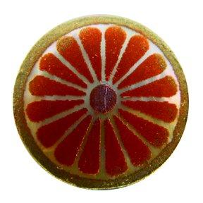 Kaleidoscope Orange Emboss-Painted MOP Buttons
