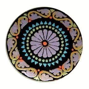 Kaleidoscope Emboss-Painted MOP Buttons