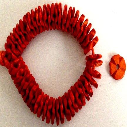 15mm discs Orange Coco Shell Flowerettes