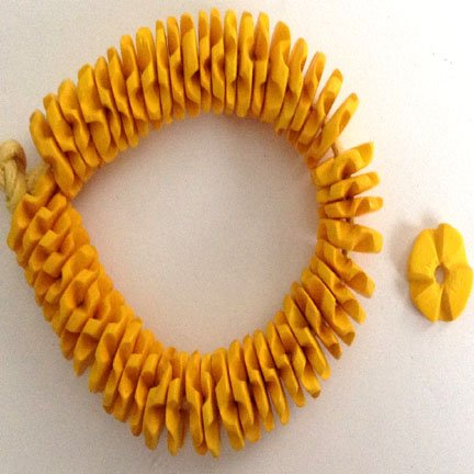 15mm Yellow Coco Shell Flowerettes