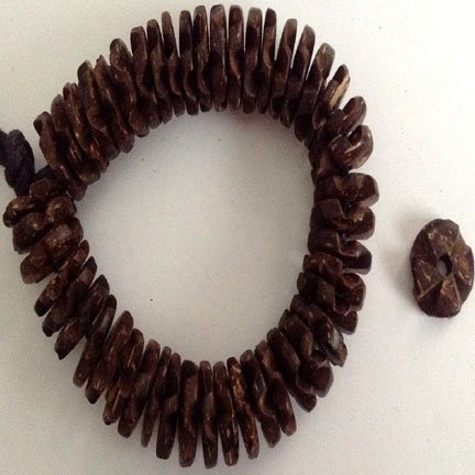 15mm discs Natural Brown Coco Shell Flowerettes