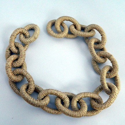 Abaca Links, Large, Natural, 21 inches