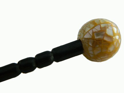 Hair Stick, 20mm shell on top, MOP