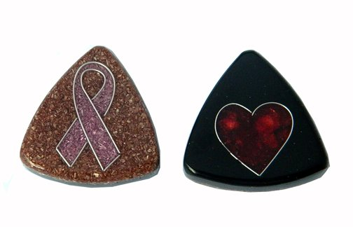 Sawdust, Recycled, Pendant, 41x9mm Tria, Breast Cancer Awareness Theme