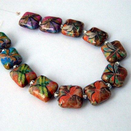 Decoupage Beads, Dragonflies