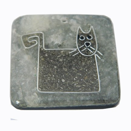 Recycled Sawdust, Pendant, Cat