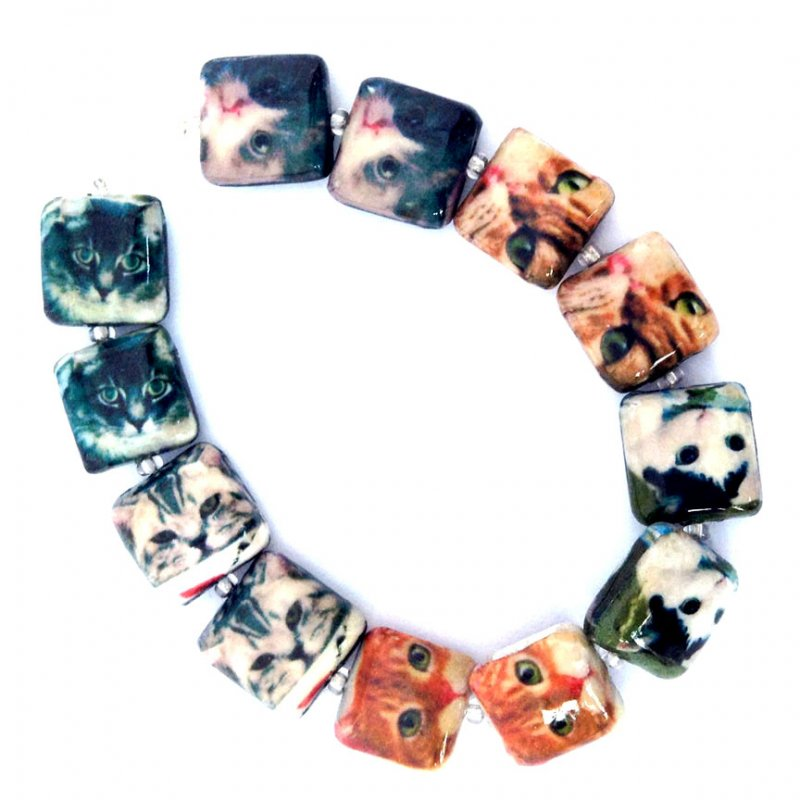 12mm Square Cool Cats