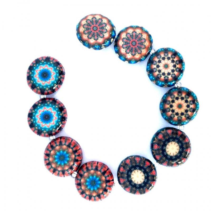Mandala, 15mm Round