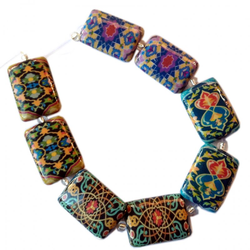Decoupage, Paisley, Morocco Domino B, Rectangle