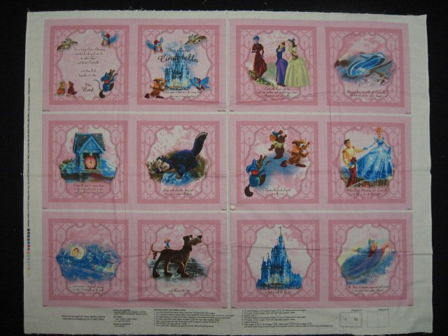 Disney Cinderella Thomas Kinkade Fabric baby soft book to sew