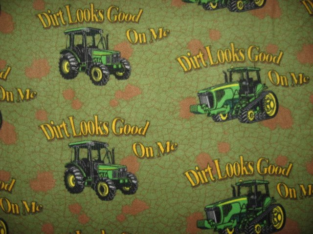 John Deere Tractor Dirt Looks Good Anti pill handmade Fleece Blanket