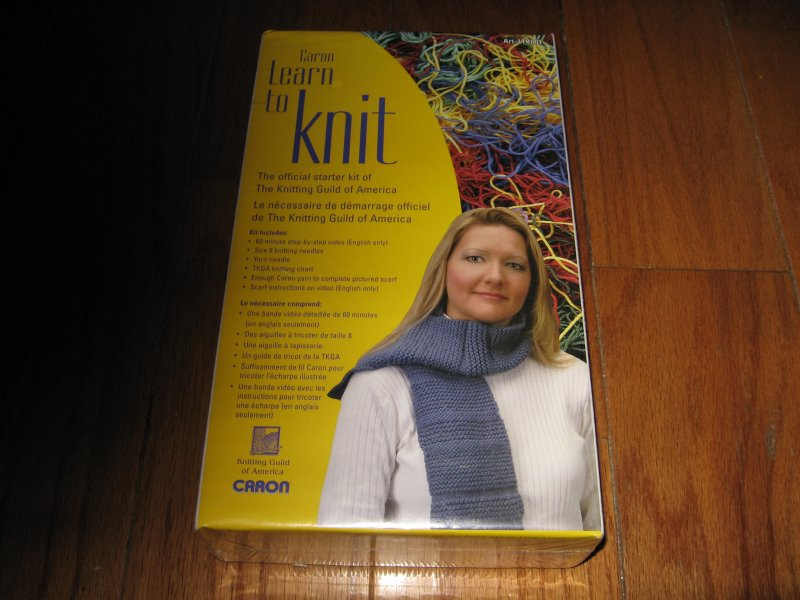 Caron Learn to Knit Starter kit Yarn needles Video