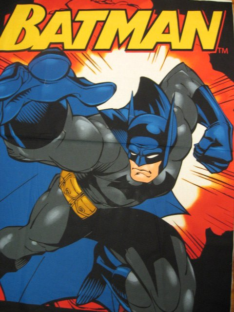 Batman Fabric wall Panel Super Hero Cotton for quilt or throw to sew