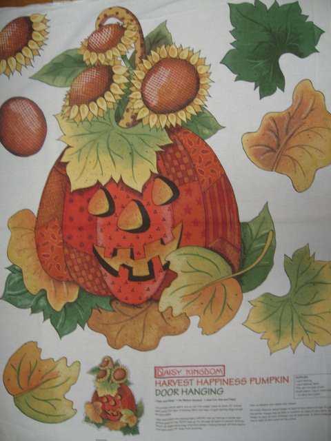Daisy Kingdom Pumpkin and Sunflower Cotton Quilt Wall Throw Fabric Panel to sew