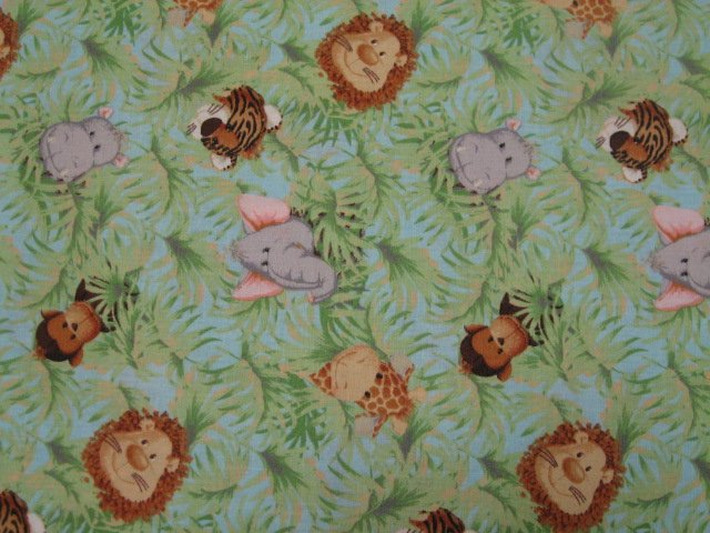 Baby jungle animals and monkey Patty Reed sewing cotton Fabric By The Yard