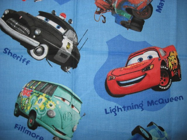 Image 1 of Disney Pixar Cars blue sewing cotton Fabric