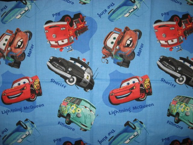 Disney Pixar Cars blue sewing cotton Fabric