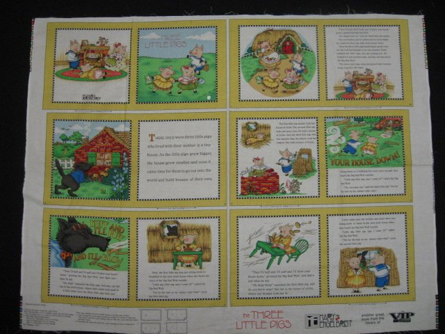 Mary Engelbreit The Three Little Pigs Fabric baby soft book new to sew