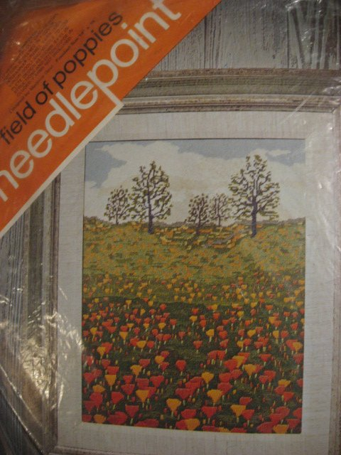 Field of poppies needlepoint Kit 14 X 18 to make