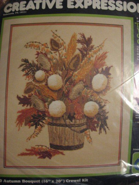 Image 0 of Autumn bouquet flowers Creative expressions crewel Kit 16