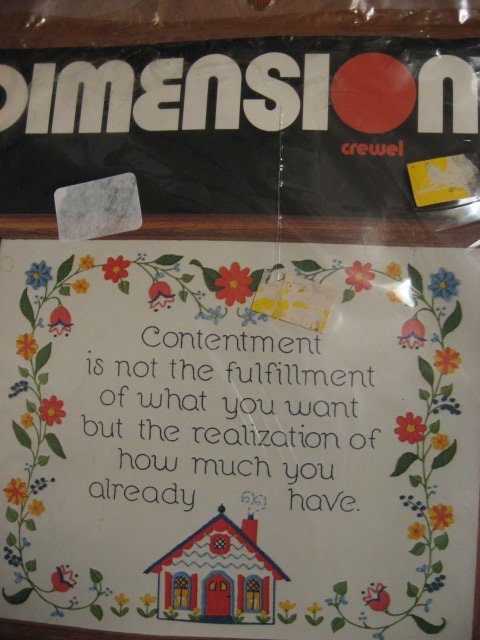 Image 0 of Contentment Sampler How it is measured Dimensions crewel Kit