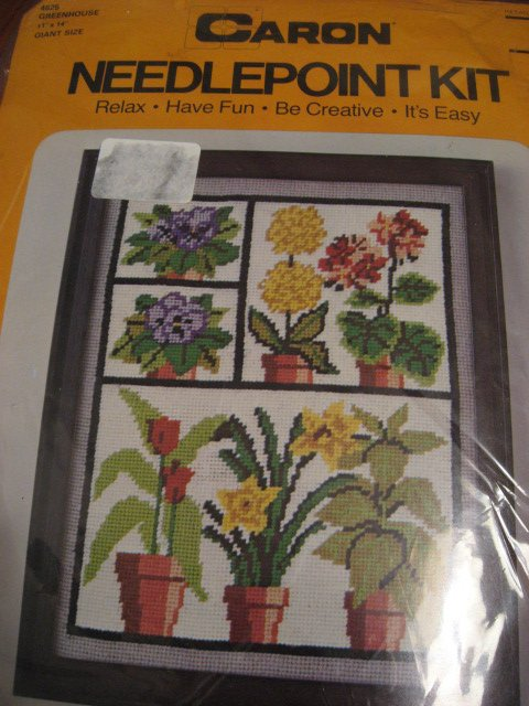 Image 0 of Greenhouse flowers Caron Needlepoint Kit 11